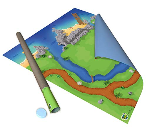 Large Castle Grounds Play mat for Castle toys including Lego & Playmobil and other children's toys. 850mm x 850mm.
