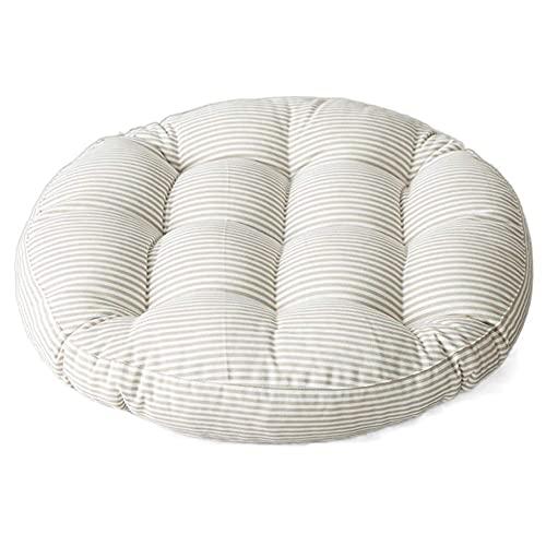 WQF Cojín Redondo para Silla, colchón de futón japonés, cojín Redondo para Silla de Lino de algodón, artículos para el hogar cómodos y Suaves, Uso en Restaurante en el jardín (Incluye 1 Almohada