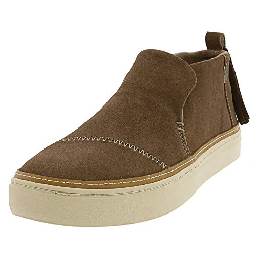 TOMS Women's Paxton Slip-Ons Water Resistant Taupe Gray Suede 8