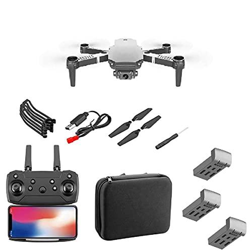 Mini drone con doppia fotocamera per bambini e adulti, drone pieghevole WiFi FPV con videocamera HD 4K grandangolare, con modalità senza testa, modalità mantenimento dell'altezza, decollo/atterraggi