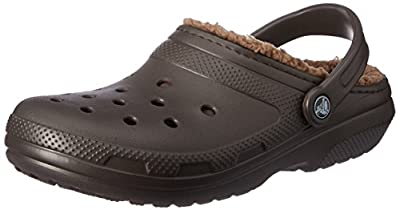 Crocs Classic Lined Clog Mule, Espresso/Walnut, 14 US Women / 12 US Men