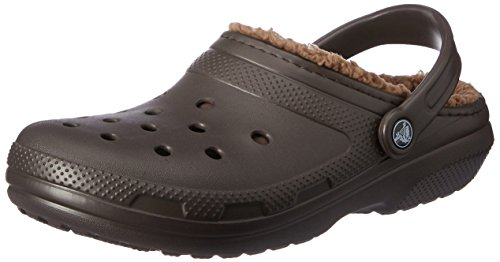 Crocs Classic Lined Clog Mule, Espresso/Walnut, 8 US Women / 6 US Men