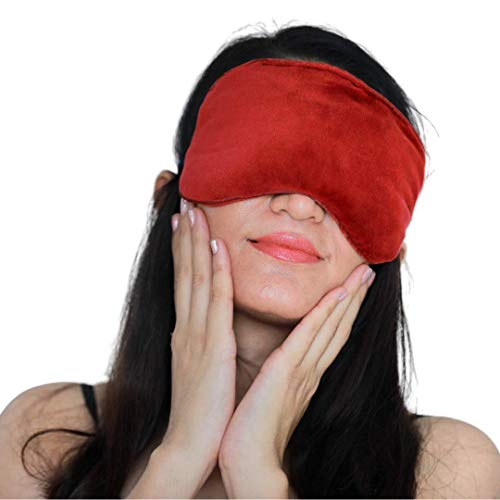 Advance Cold & Warm Eye Compress | Soothes Dry Eyes, Stye, MGD, Headache, Blepharitis, Puffy & Pink Eyes | Weighted Eye Mask for Sleeping Sleep Masks for Men & Women.