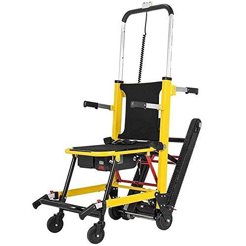 CHHD Elektrischer Rollstuhl EMS Treppenstuhl zum Klettern auf Raupen und Treppen, Klapptreppen-Evakuierungsstuhl mit Batteriebetrieb