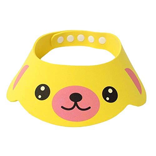 N-K Cartoon Tier Baby Bad Duschhauben Shampoo Visier Kinder Haar Waschen Augenschutz Kappe Bade Werkzeug Gelb Tragbar und Nützlichlanglebig