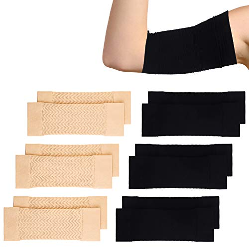 Cooraby 6 Pair Arm Slimming Shaper Wrap, Arm Compression Wrap Sleeve Sport Fitness Arm Shapers, Elastic Arm Shapers for Flabby Arms Tone Shape...
