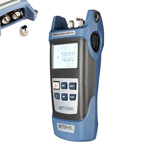 sourcingmap DC 9V/1000mA -70 ~ +10 dBm multimètre optique portable SC/FC/ST Interfaces