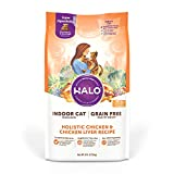 Halo Grain Free Natural Dry Cat Food - Indoor and Healthy Weight...