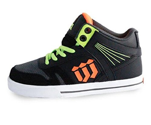 World Industries Boy's Guard Skateboarding Shoe (5 M US Big Kid, Black/Grey)
