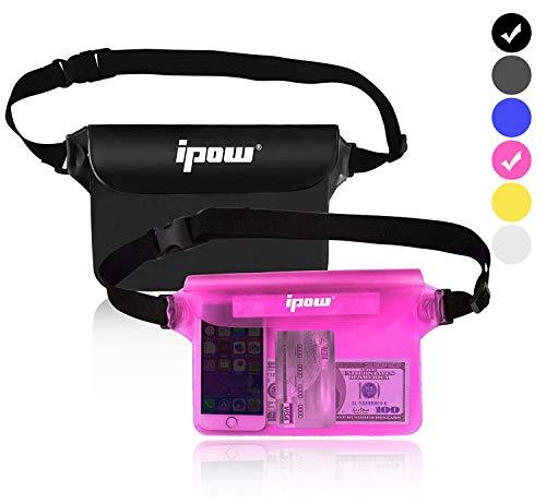 IPOW 2 PCS Bolsa Impermeable Playa para iPhone, móvil, cá