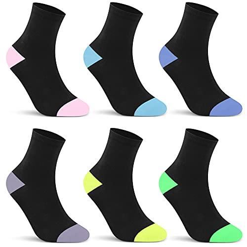 L&K 6 pares de calcetines de invierno calcetines deportivos de mujer Calcetines térmicos de invierno calcetines de algodón de rizo completo lana con rizo interior súper suave y cálido 2031 35 38