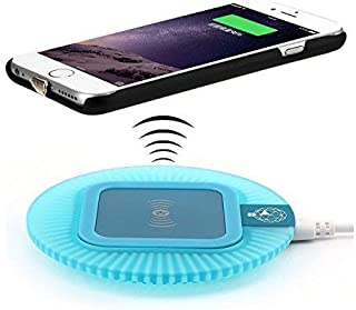 Qi Wireless Charger Kit for iPhone 6 Plus and iPhone 6S Plus, Including Qi Wireless Charging Pad and Receiver Back Cover (Blue Dock-iPhone 6 Plus/6s Plus)
