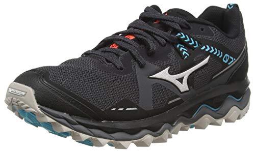 Mizuno Wave Mujin 7, Women's Trail Running Shoes, Magnet / Crystal Gray / Blue, 40.5 EU