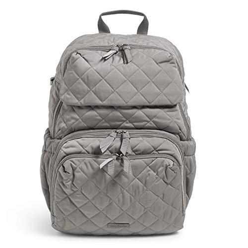 Vera Bradley Performance Twill Backpack Baby Diaper Bag, Tranquil Gray