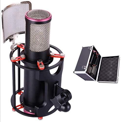 PC Studio Cardioïde condensator microfoonset - Verstelbare microfoon Compatibel met Windows of Voor opnemen in HD-kwaliteit, Podcasting, Gaming, YouTube