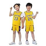 QINYA Camiseta Baloncesto Niño Niño Michael Jordan # 23 Chicago Bulls Retro Pantalones Cortos De Baloncesto Camisetas De Verano Uniformes Y Tops De Baloncesto (S,02)