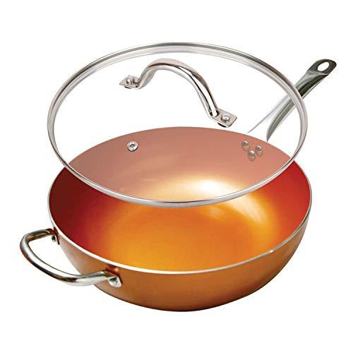 Copper 12'' Wok Pan