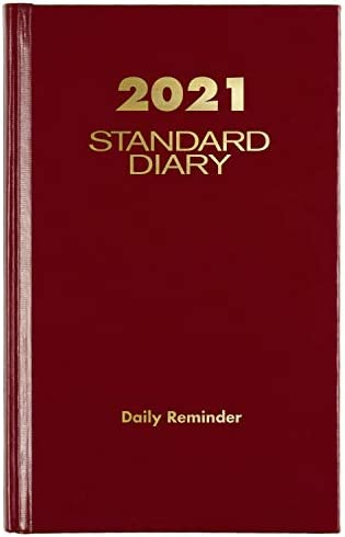 2021 Diary by AT A GLANCE Standard Daily Diary 4 x 6 1 2 Extra Small Red SD3851321 product image