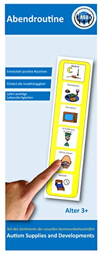 Autism Supplies & Developments DE_PM Plastik Visuelle Abendroutine, blau