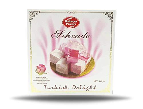 Turkish Delight, Türkischer Honig, Lokum mit Rosenwasser Geschmack 400g (1)
