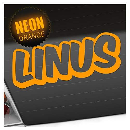 Kiwistar Linus Autocollant pour garçon 25 Couleurs Fluo Mat