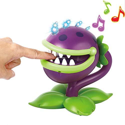 Yzoncd Piante Vs.Zombies Bite Hand Toy Action Figure Game Model, Purple Big Mouth Flower Sound E Light Chil'S Favorite