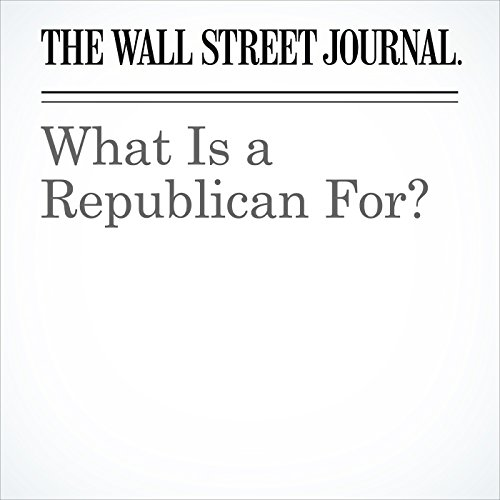 What Is a Republican For? copertina