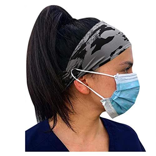 Bouton Bandeau Cheveux Homme Bandeau Fluo Headband Cheveux Femme Headband Sport Headband Fleur Headband Bebe Fille A