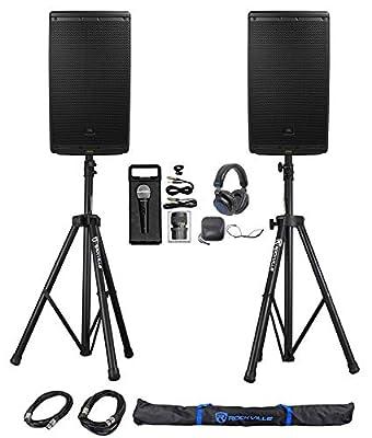 """(2) JBL EON612 12"""" 2000 Watt Powered DJ PA Speakers+Stands+Cables+Mic+Headphones by JBL"""