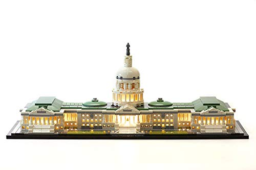 LED Lighting Kit for Lego Architecture United States Capitol Building - 21030 (Lego Set NOT Included)