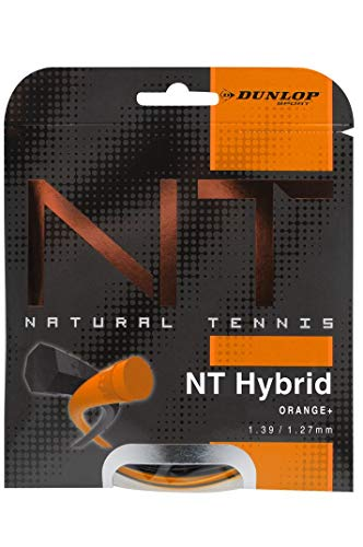 DUNLOP 624782 Tennis String NT Hybrid Orange 1.39/1.27 Black 12 m Adulte Unisexe, mm