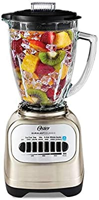 Oster Classic Series Blender with Travel Smoothie Cup - Chrome BLSTCG-CBG