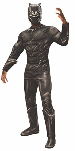 Rubie's Men's Captain America: Civil War Deluxe Muscle Chest Black Panther Costume, Standard