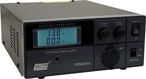Komerci PS50SWIV Festspannungsnetzgerät 13,8V/9-15V 50A Schaltnetzteil mit regelbarem Entstörfilter Netzteil Netzgerät