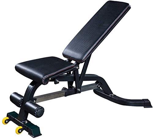 LYYJIAJU Hantelbank Faltbare Professionelle Hantelbank Multifunktionale Bauchmuskelbank Fitnesstraining Einstellbare Stuhl Bank sitzen Übung Fitnessgeräte