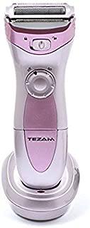 Tezam Cordless Women's Electric Shaver, 3-Blade Wet & Dry Body Hair Epilator Armpit Bikini Trimmer Lady Shaver, Rechargeable