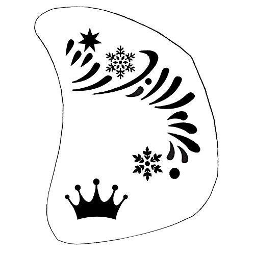 Schminkschablone Eiskönigin Schablone Kinder Karneval Kinderschminken