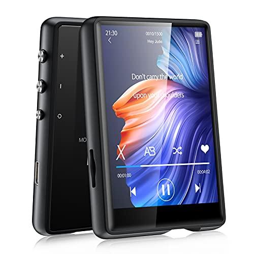 32GB MP3 Player Bluetooth 5.0 MECHEN 2,4'' Touchscreen Tragbarer MP3-Player zum Laufen mit Line-in-Aufnahme, FM-Radio, Lautsprecher, Unterstützt bis zu 128GB