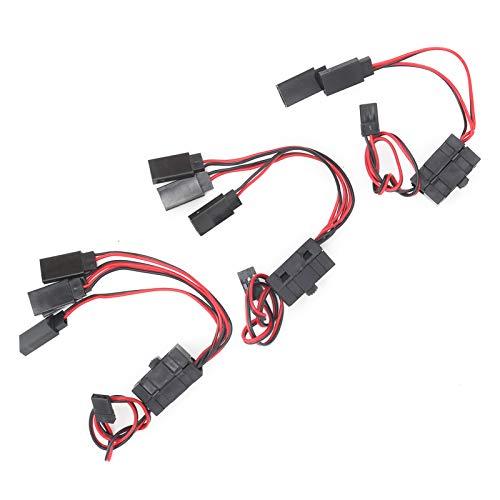 Velaurs Conectores de Interruptor de Encendido / Apagado RC, interruptores de Encendido y Apagado Interruptor RC de 3 vías Interruptor RC Interruptor de alimentación RC de 4 vías Durable para Barco