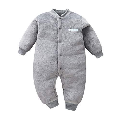 Janly Clearance Sale - Conjunto de trajes y conjuntos para niñas, recién nacidos, para bebés y niñas, con estampado de mono grueso y cálido, para 3-6 meses (gris)