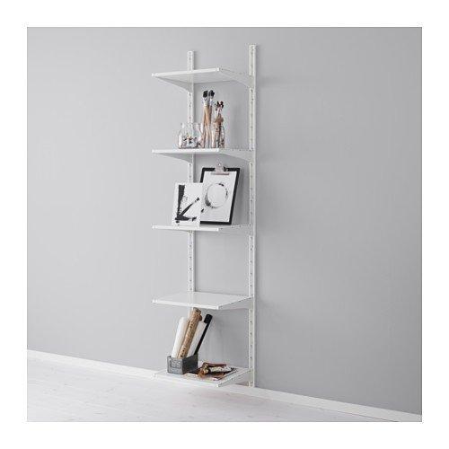Ikea ALGOT Wandschiene/Böden Aufbewahrungssystem; in weiß; (45x20x196cm)