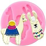 FGHHT Moldes de Silicona de Oveja de Alpaca,Herramientas de decoración de Pasteles de cumpleaños, Molde de Fondant para decoración de Cupcakes, moldes de Arcilla de Chocolate y Caramelo