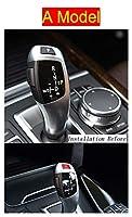Wishful 車のスタイルスタイルのギアシフトハンドルスリーブボタンパネルカバーステッカートリムフィットBMW 5シリーズF18オートインテリアアクセサリー (Color Name : A Model Red)