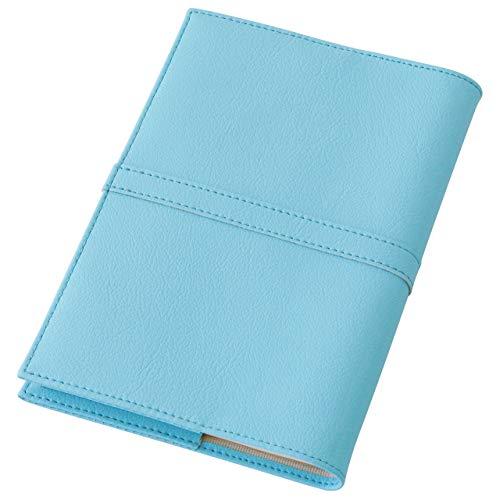 TEES FACTORY ジブン手帳カバー SION mini B6スリム 2021 日本製 ライトブルー 水色 PVC レザー