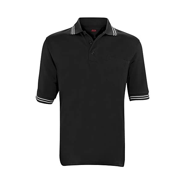 Adams USA Short Sleeve Baseball/Softball Umpire Shirt – Sized for Chest Protector