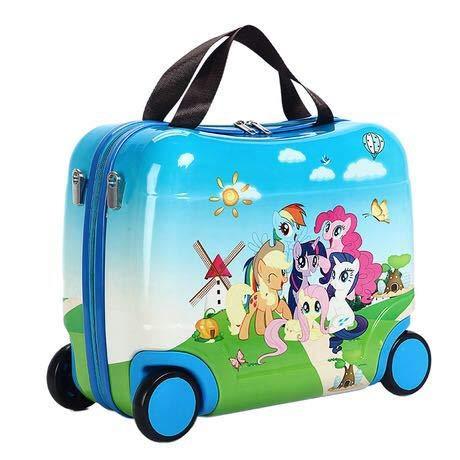 Mdsfe 2020 Bolsa de Viaje para niños Caliente Bolsas multifuncionales para niños Lindas Caja de Montar portátil Nuevas Bolsas de Equipaje de Viaje Equipaje - F, 16'