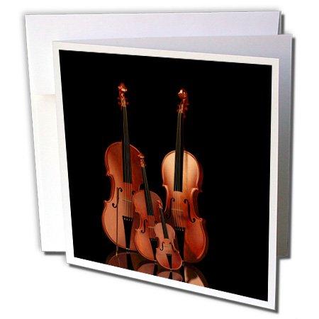 3drose wenskaarten, bas- en cello, 15,2 x 15,2 cm, string instrumenten viool (GC 200920 1)