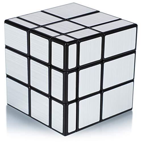 Maomaoyu Cubo Mirror 3x3 3x3x3 Mirror Cube Puzzle Magico Cubo de la Velocidad Espejo Plata