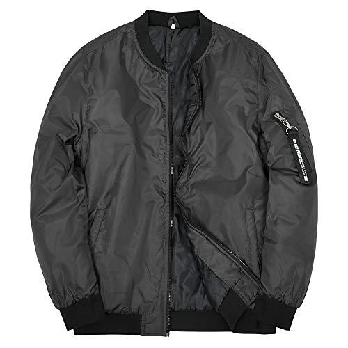 Boys Bomber Jacket Flight Jackets Lightweight Varsity Jacket Dark Grey 12 Years