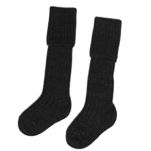 Gleann Righ - Chaussettes hautes de kilt - pour garçon - anthracite - 30-36